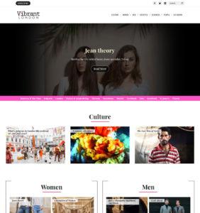 lifestyle magazine web design