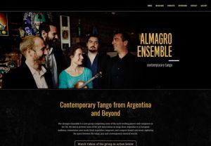 Tango ensemble web design